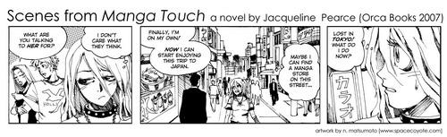 Manga Touch bookmark